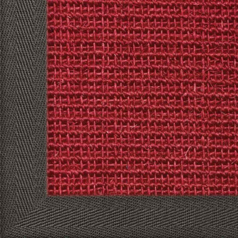 Sisalteppich mit Stoffbordüre und Fleckschutz Manaus Rubin 11   Wunschmaß Bild 18