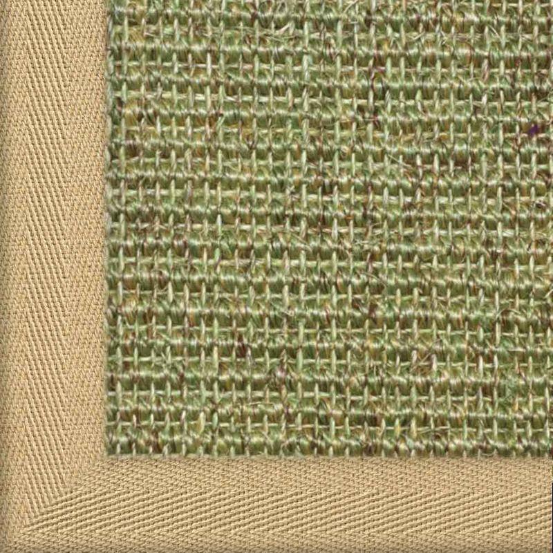 Sisalteppich mit Stoffbordüre und Fleckschutz Manaus Heu 35 | Wunschmaß Bild 13