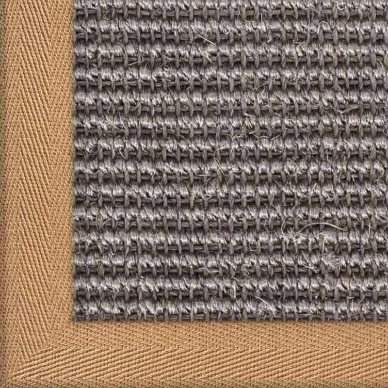 Sisalteppich mit Stoffbordüre und Fleckschutz Manaus Graphit 40 | Wunschmaß Bild 8