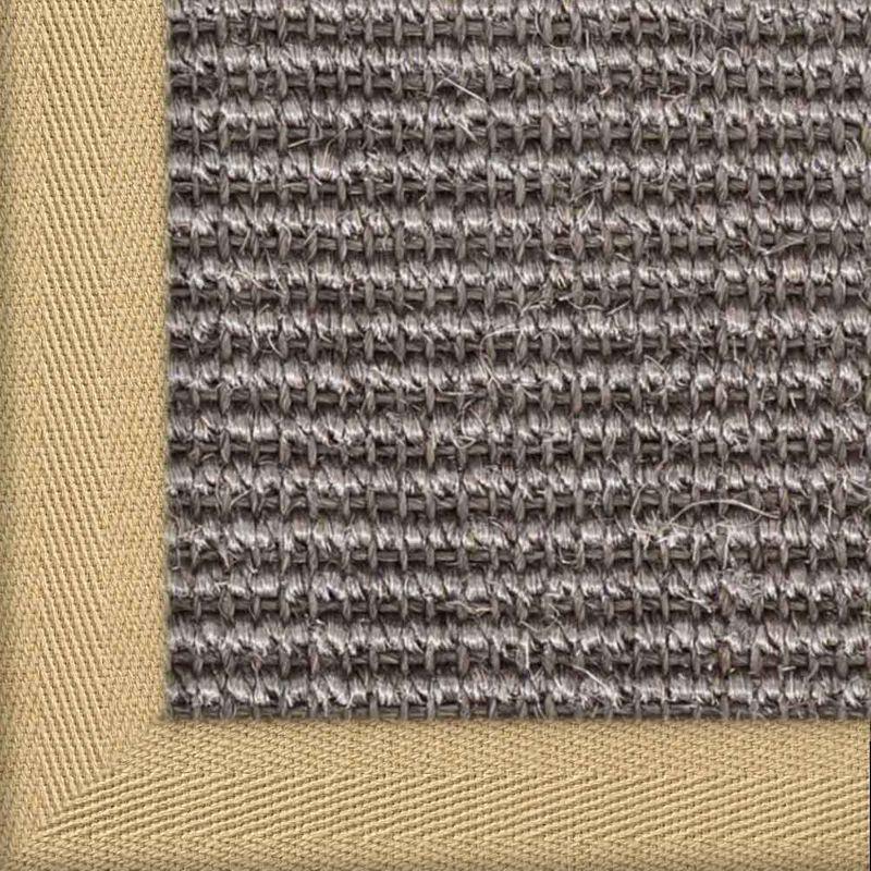 Sisalteppich mit Stoffbordüre und Fleckschutz Manaus Graphit 40 | Wunschmaß Bild 9