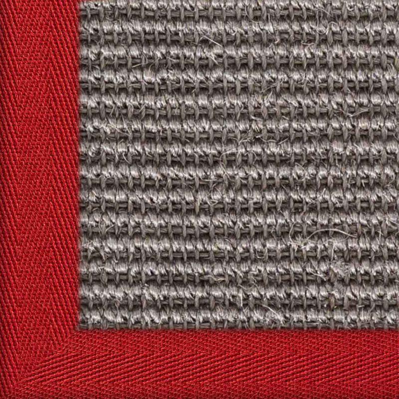 Sisalteppich mit Stoffbordüre und Fleckschutz Manaus Graphit 40 | Wunschmaß Bild 10
