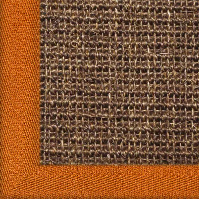 Sisalteppich mit Stoffbordüre und Fleckschutz Manaus Dunkelbraun 64 | Wunschmaß Bild 23