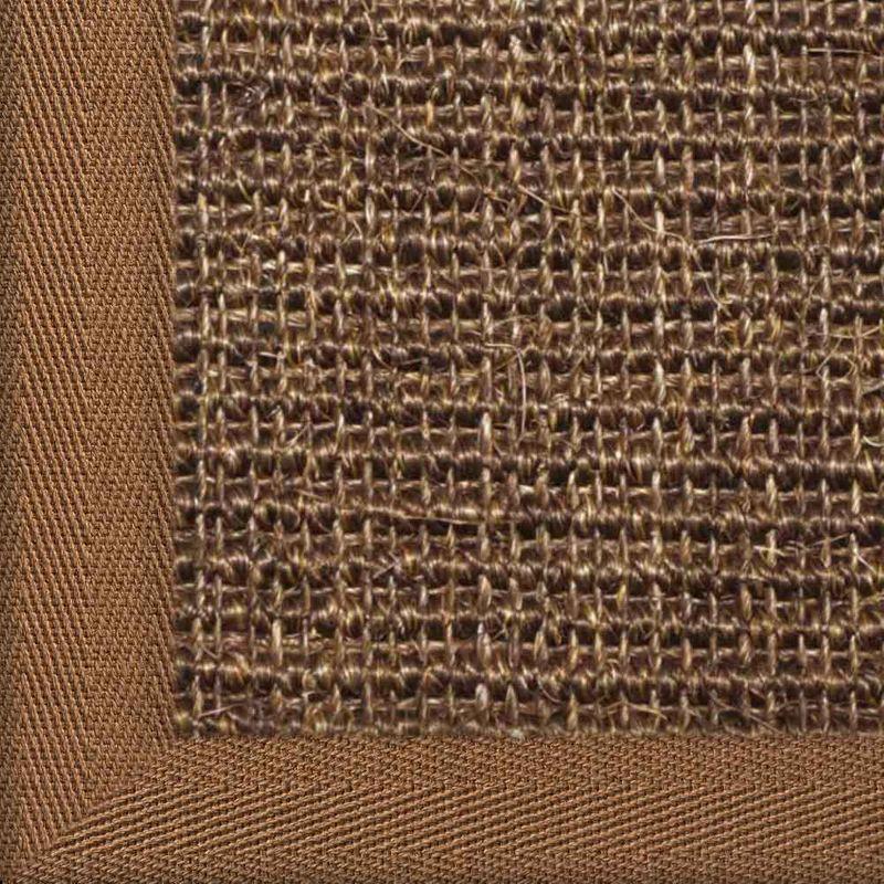 Sisalteppich mit Stoffbordüre und Fleckschutz Manaus Dunkelbraun 64 | Wunschmaß Bild 24