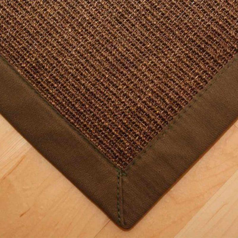 Sisalteppich mit Stoffbordüre und Fleckschutz Manaus Dunkelbraun 64 | Wunschmaß Bild 2