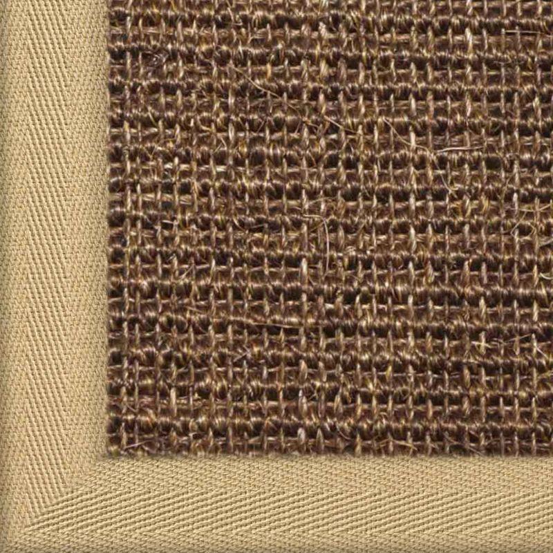 Sisalteppich mit Stoffbordüre und Fleckschutz Manaus Dunkelbraun 64 | Wunschmaß Bild 9