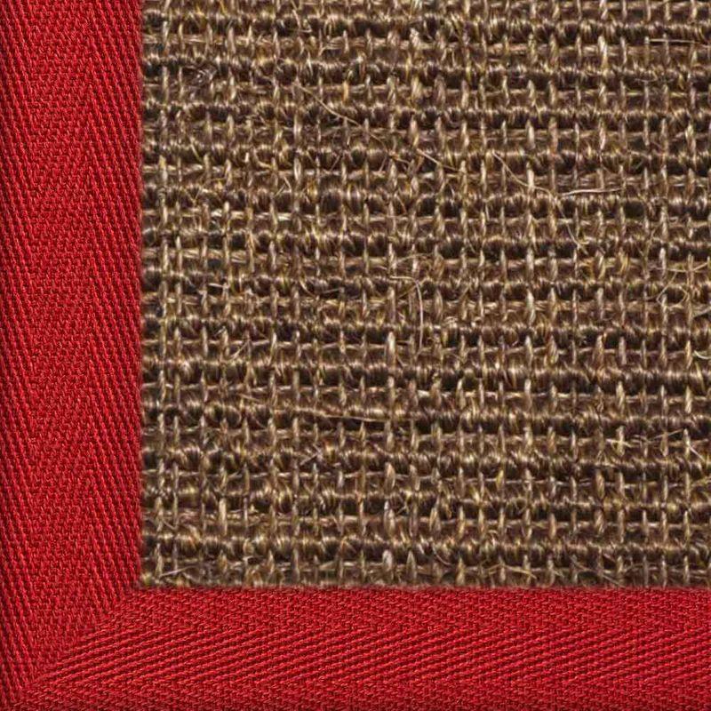 Sisalteppich mit Stoffbordüre und Fleckschutz Manaus Dunkelbraun 64 | Wunschmaß Bild 10