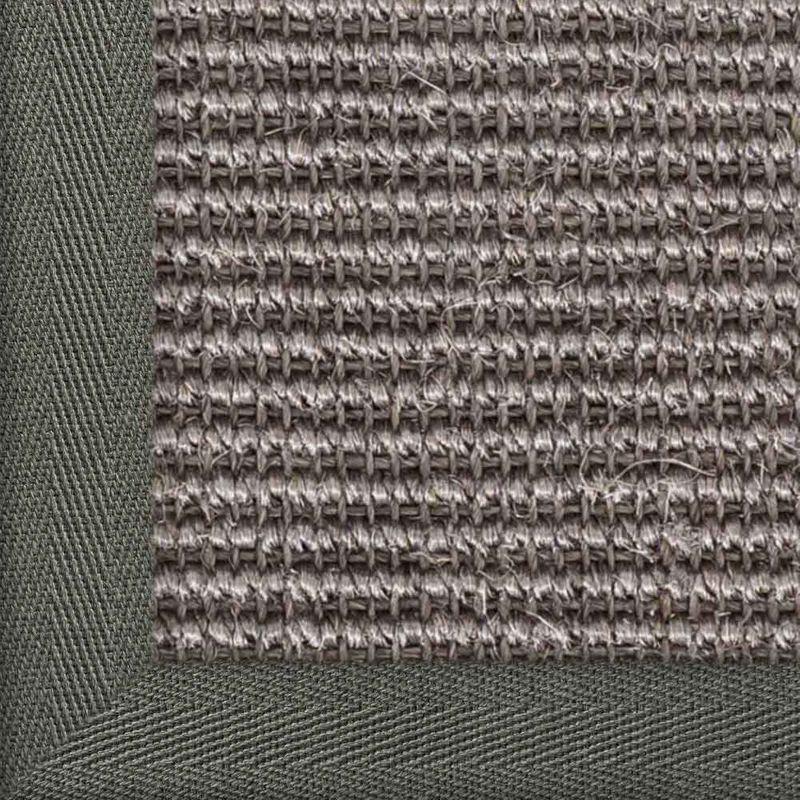 Sisalteppich mit Stoffbordüre Manaus Graphit 40 | Wunschmaß Bild 18