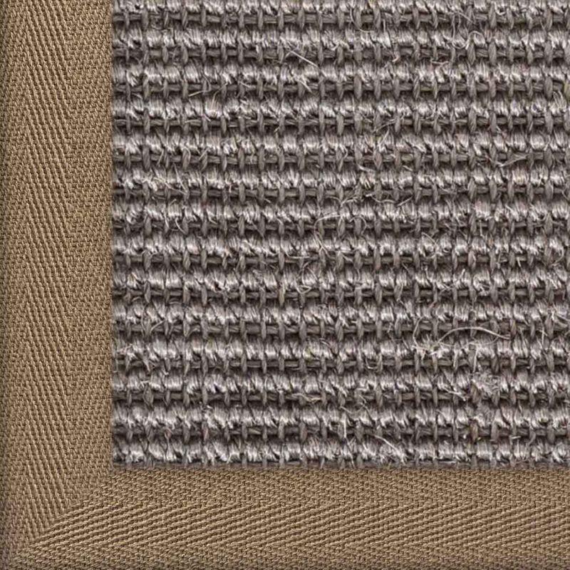 Sisalteppich mit Stoffbordüre Manaus Graphit 40 | Wunschmaß Bild 19