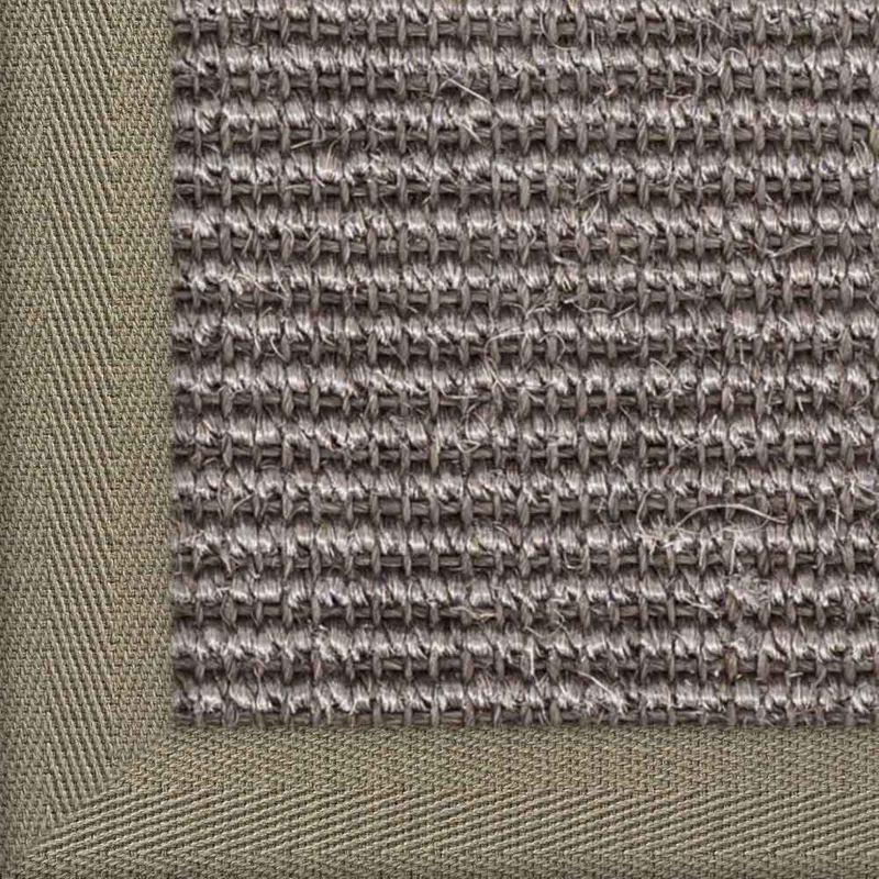 Sisalteppich mit Stoffbordüre Manaus Graphit 40 | Wunschmaß Bild 21