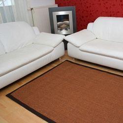 Sisalteppich mit Stoffbordüre Manaus Braun 65 | Wunschmaß Bild 1