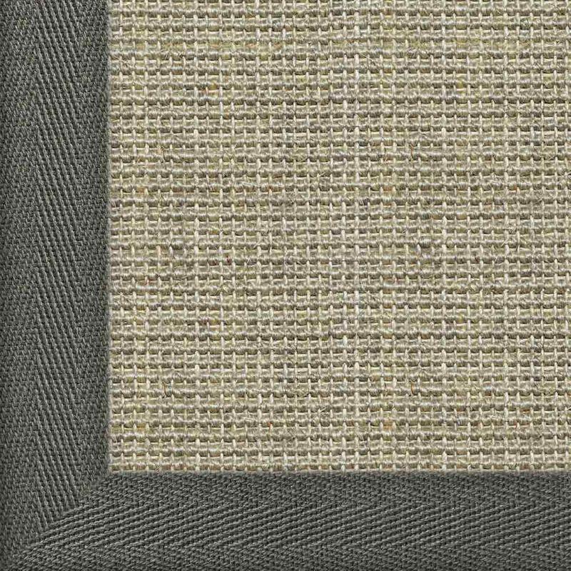 Sisalteppich mit Stoffbordüre und Fleckschutz Salvador Hirse 02 | Wunschmaß Bild 17