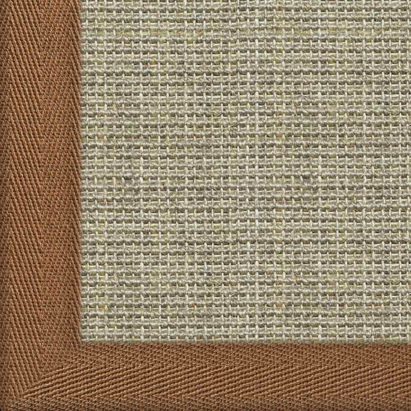 Sisalteppich mit Stoffbordüre und Fleckschutz Salvador Hirse 02 | Wunschmaß Bild 25