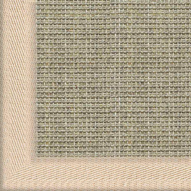 Sisalteppich mit Stoffbordüre und Fleckschutz Salvador Hirse 02 | Wunschmaß Bild 4