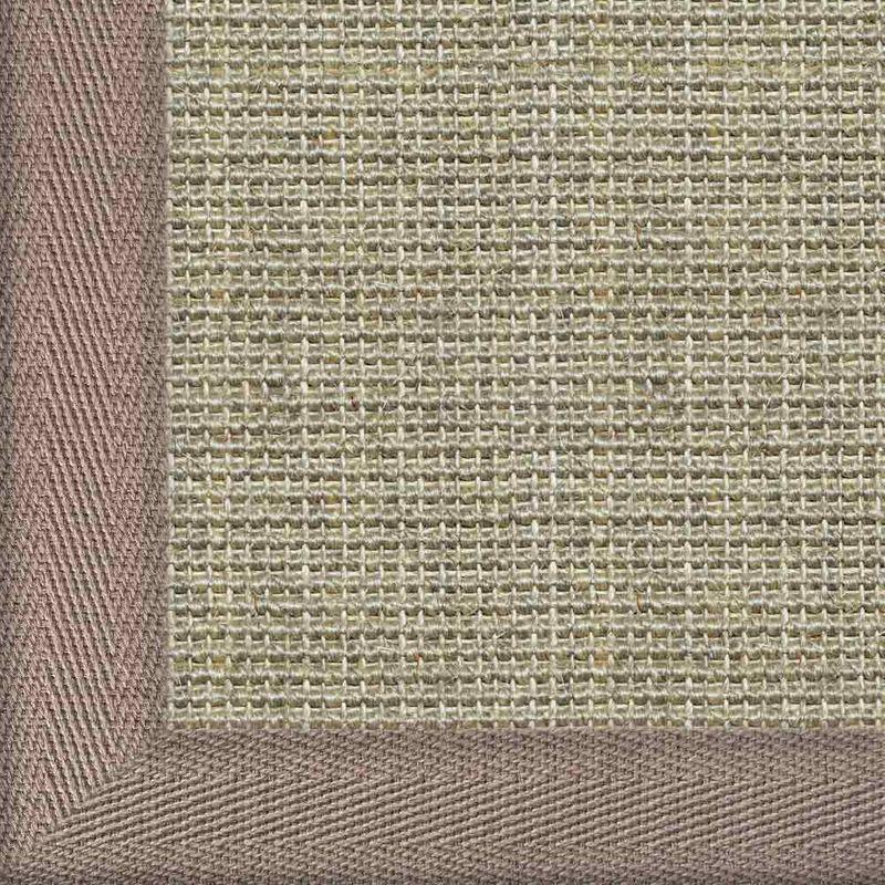 Sisalteppich mit Stoffbordüre und Fleckschutz Salvador Hirse 02 | Wunschmaß Bild 7
