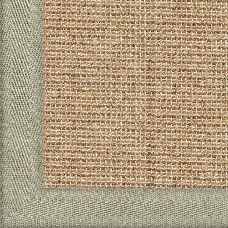 Sisalteppich mit Stoffbordüre und Fleckschutz Salvador Creme 03   Wunschmaß Bild 8