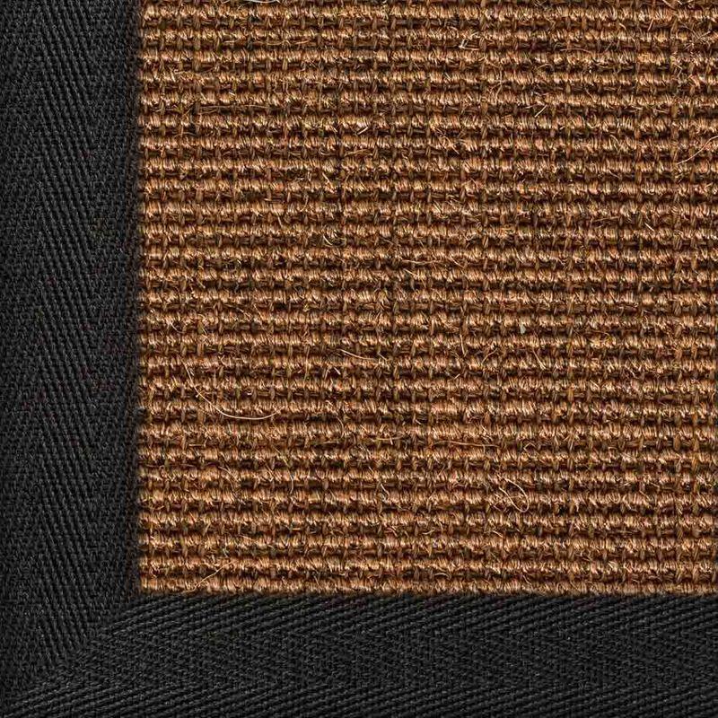 Sisalteppich mit Stoffbordüre und Fleckschutz Salvador Braun 83 | Wunschmaß Bild 15