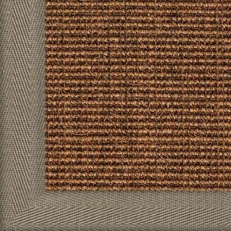 Sisalteppich mit Stoffbordüre und Fleckschutz Salvador Braun 83 | Wunschmaß Bild 20
