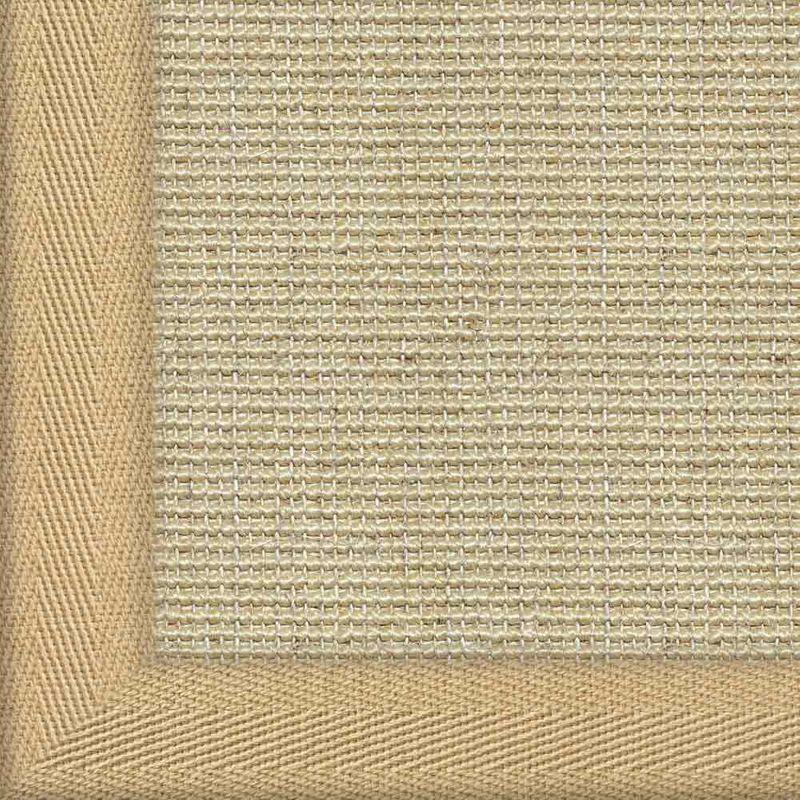 Sisalteppich mit Stoffbordüre Salvador Reis 01 | Wunschmaß Bild 9