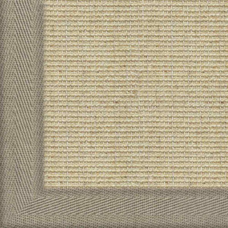 Sisalteppich mit Stoffbordüre Salvador Reis 01 | Wunschmaß Bild 15