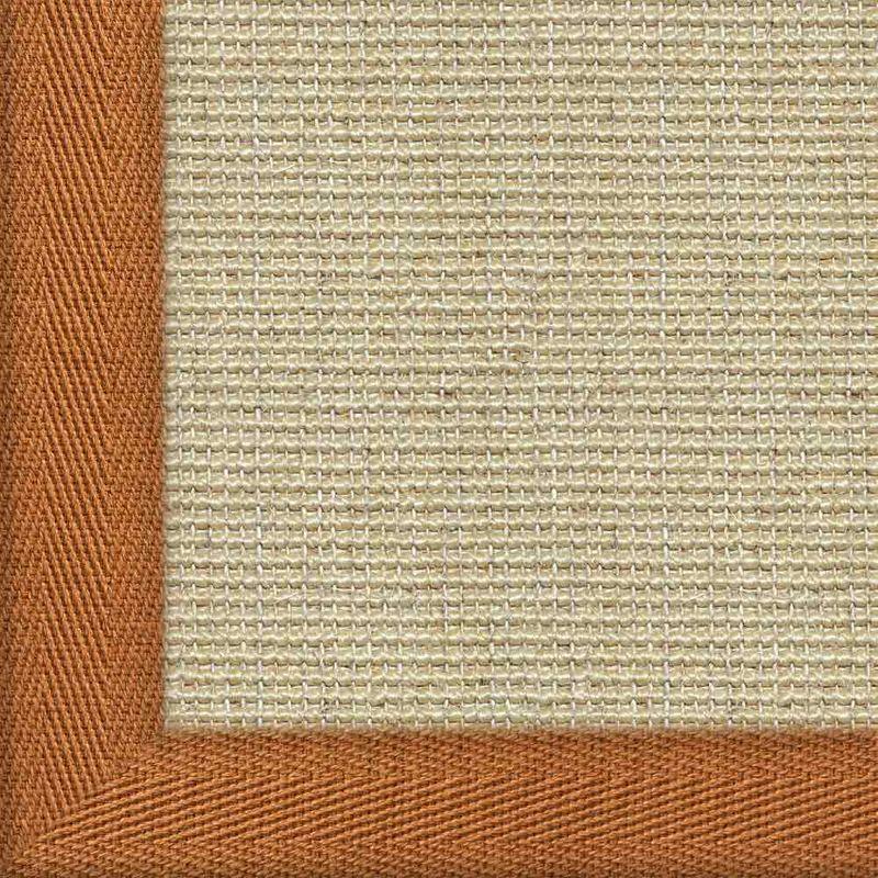 Sisalteppich mit Stoffbordüre Salvador Reis 01 | Wunschmaß Bild 20