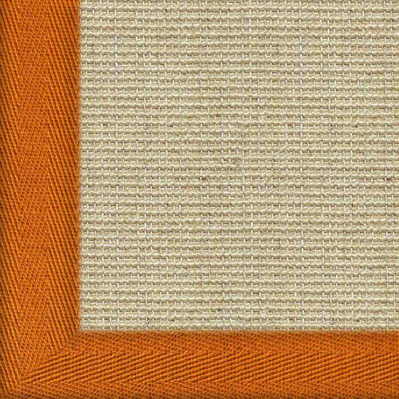 Sisalteppich mit Stoffbordüre Salvador Reis 01 | Wunschmaß Bild 23