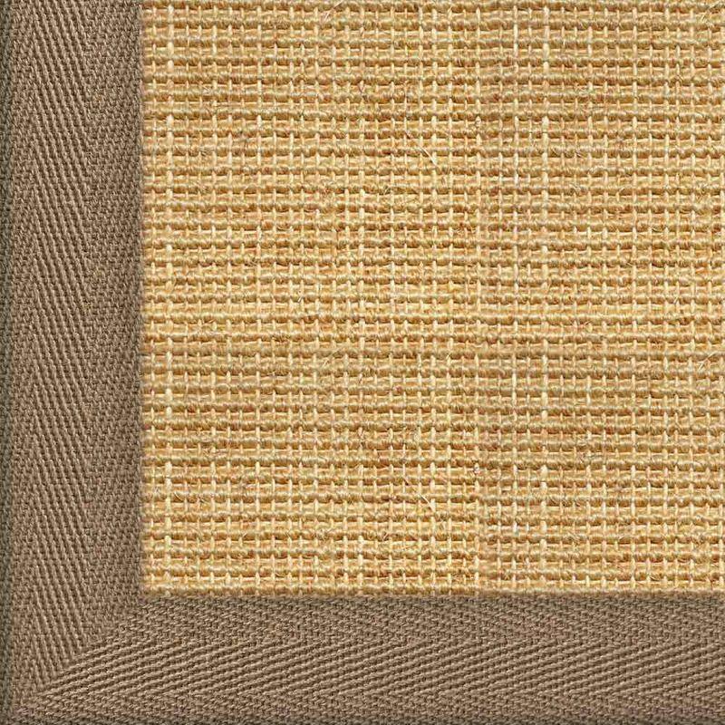 Sisalteppich mit Stoffbordüre Salvador Chablis 07 | Wunschmaß Bild 17