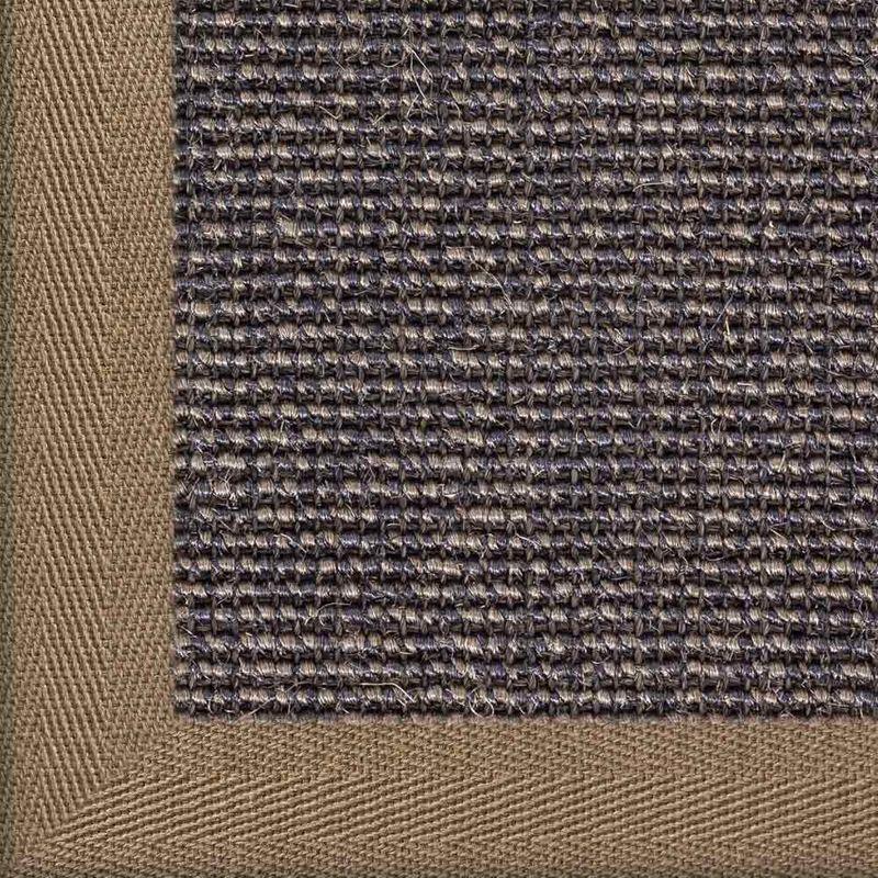 Sisalteppich mit Stoffbordüre Salvador Dunkelgrau 42   Wunschmaß Bild 17