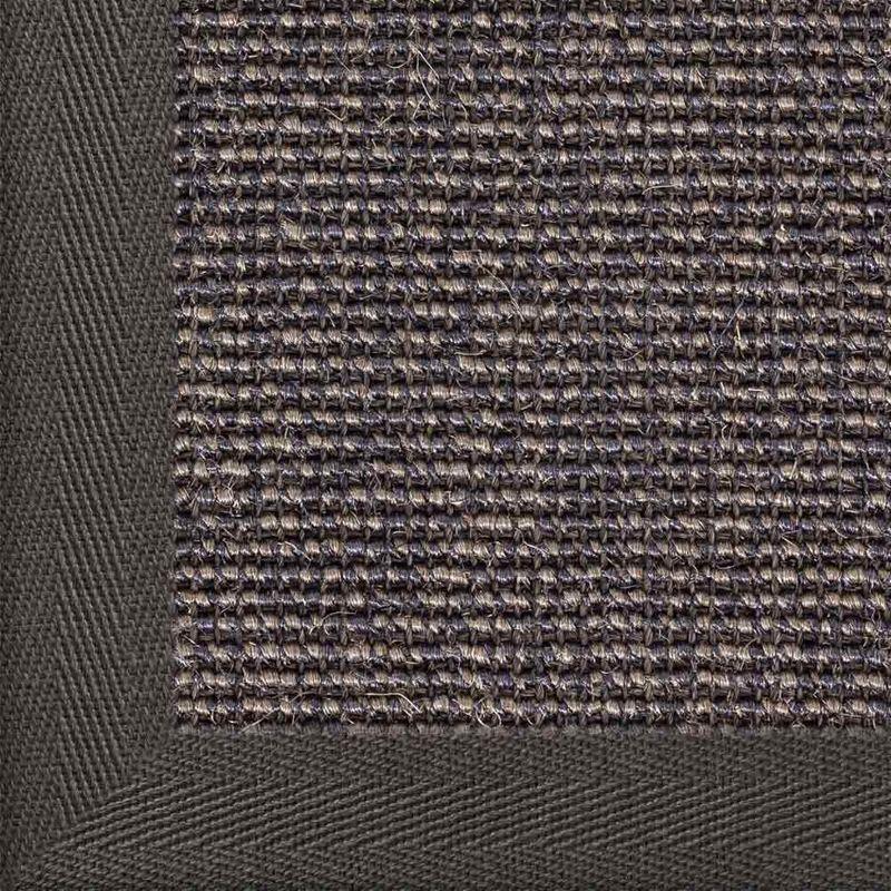 Sisalteppich mit Stoffbordüre Salvador Dunkelgrau 42   Wunschmaß Bild 18