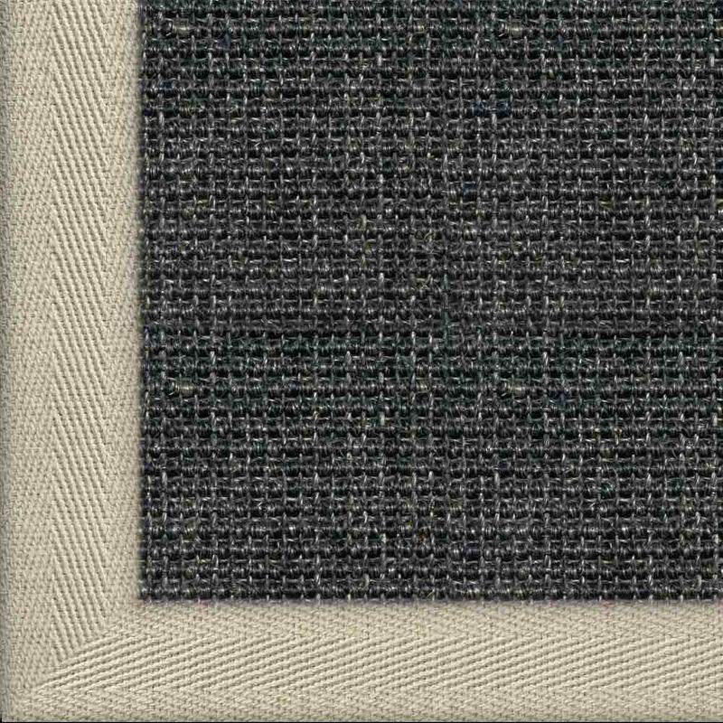 Sisalteppich mit Stoffbordüre Salvador Anthrazit 40 | Wunschmaß Bild 5