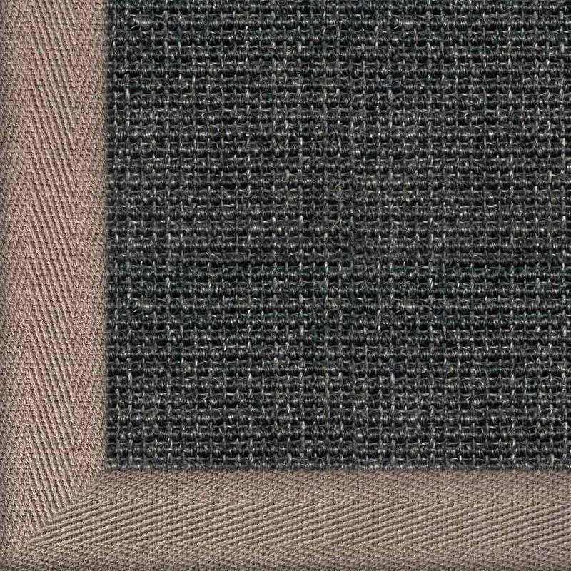Sisalteppich mit Stoffbordüre Salvador Anthrazit 40 | Wunschmaß Bild 6