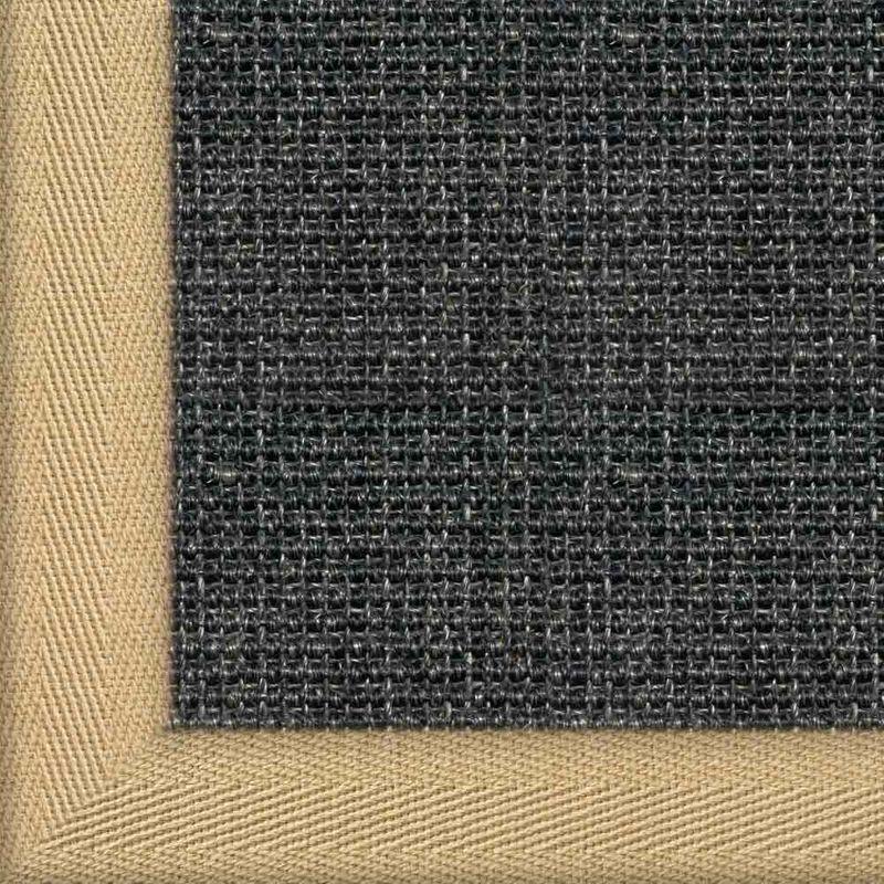 Sisalteppich mit Stoffbordüre Salvador Anthrazit 40 | Wunschmaß Bild 9