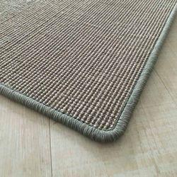 Sisalteppich mit Umkettelung und Fleckschutz Salvador Stahl 47 | Wunschmaß