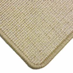 Sisalteppich mit Umkettelung und Fleckschutz Salvador Reis 01 | Wunschmaß