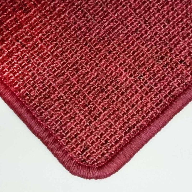 Sisalteppich mit Umkettelung Salvador Rot 10 | Wunschmaß