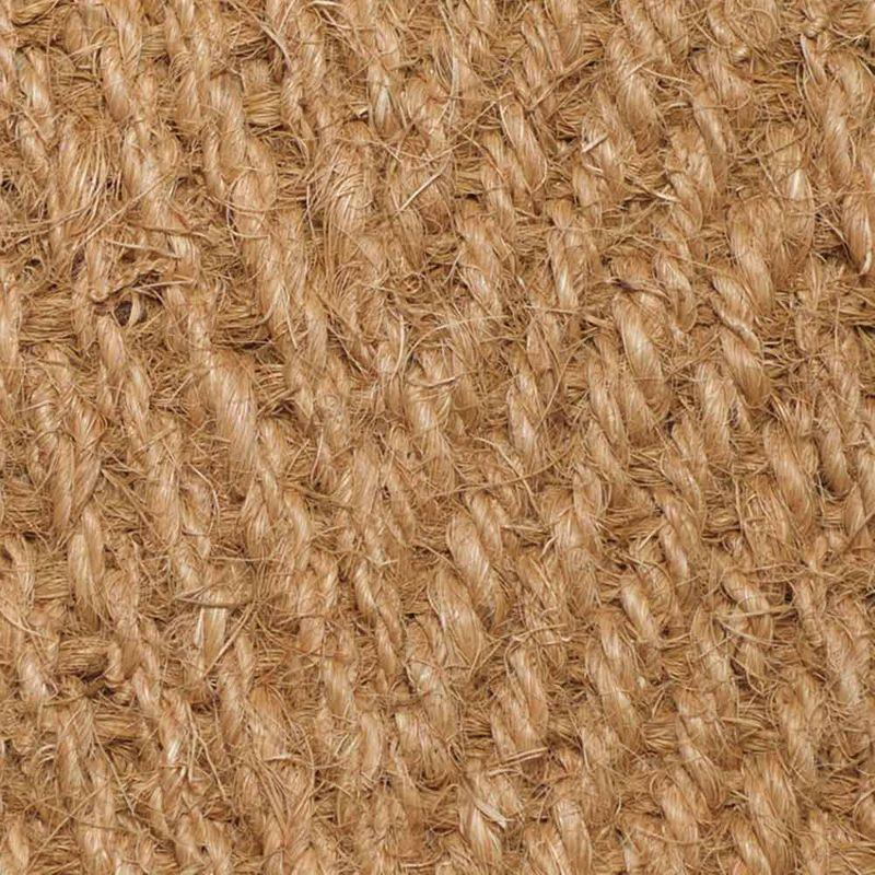 Kokosläufer Bangalore (mit Rücken) Natur 200 cm | Wunschlänge