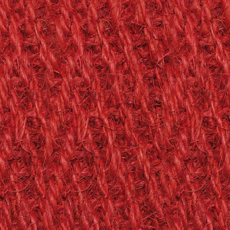 Kokosläufer Bangalore (ohne Rücken) Rot 90 cm |Wunschlänge