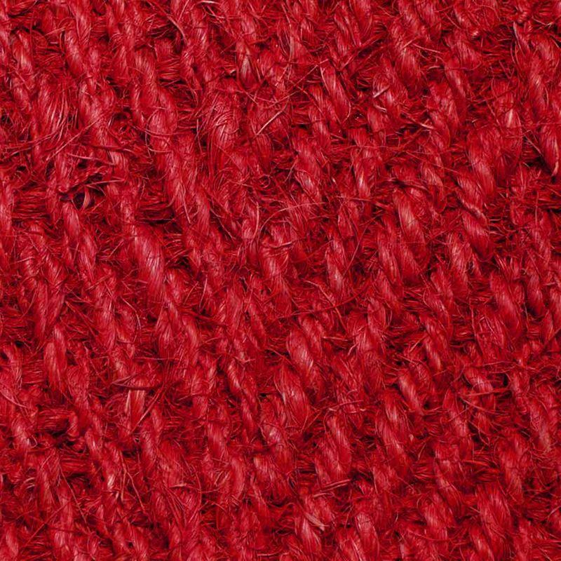 Kokosläufer Bangalore (ohne Rücken) Rot 65 cm |Wunschlänge