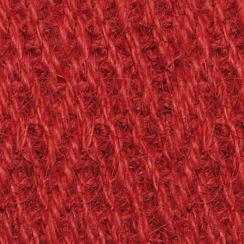 Kokosläufer Bangalore (mit Rücken) Rot 200 cm | Wunschlänge