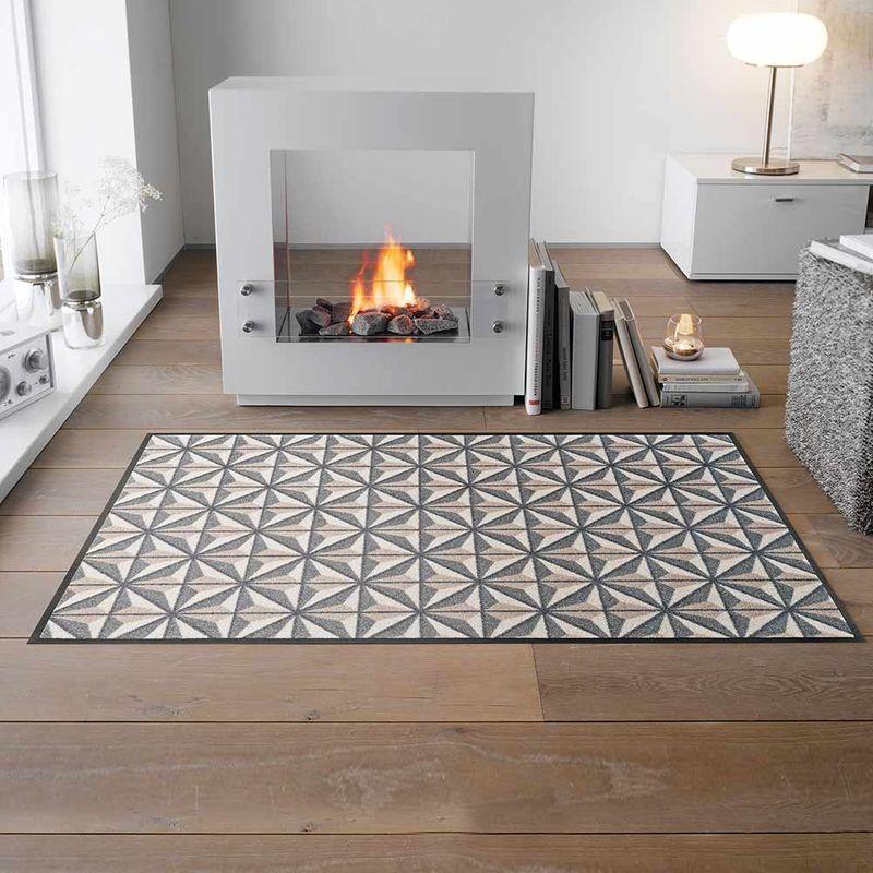 Fußmatte wash+dry Design Kubus 75x120 cm