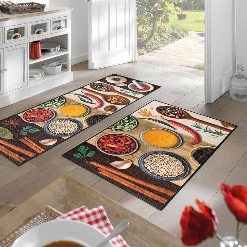 Fußmatte wash and dry Design Hot Spices Designbeispiel
