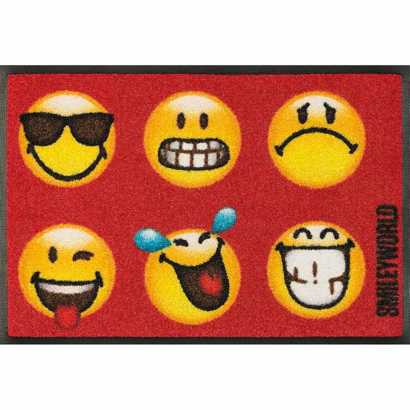 Fußmatte wash+dry Design Smiley Faces 40x60 cm