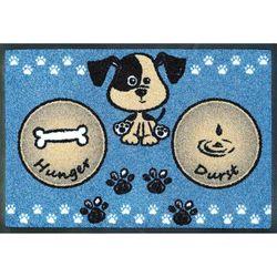 Fußmatte wash+dry Design Hundemahlzeit Blau 40x60 cm