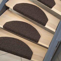 Stufenmatte Brush Line braun 28x65 cm