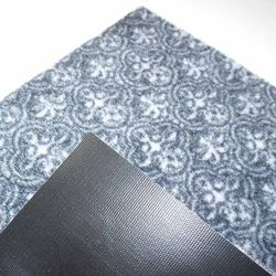 Fußmatte Homestyle grau Rückseite