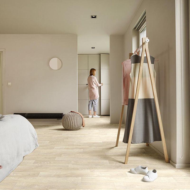 PVC Boden Livingfloor Pietro White Oak 116S Designbeispiel