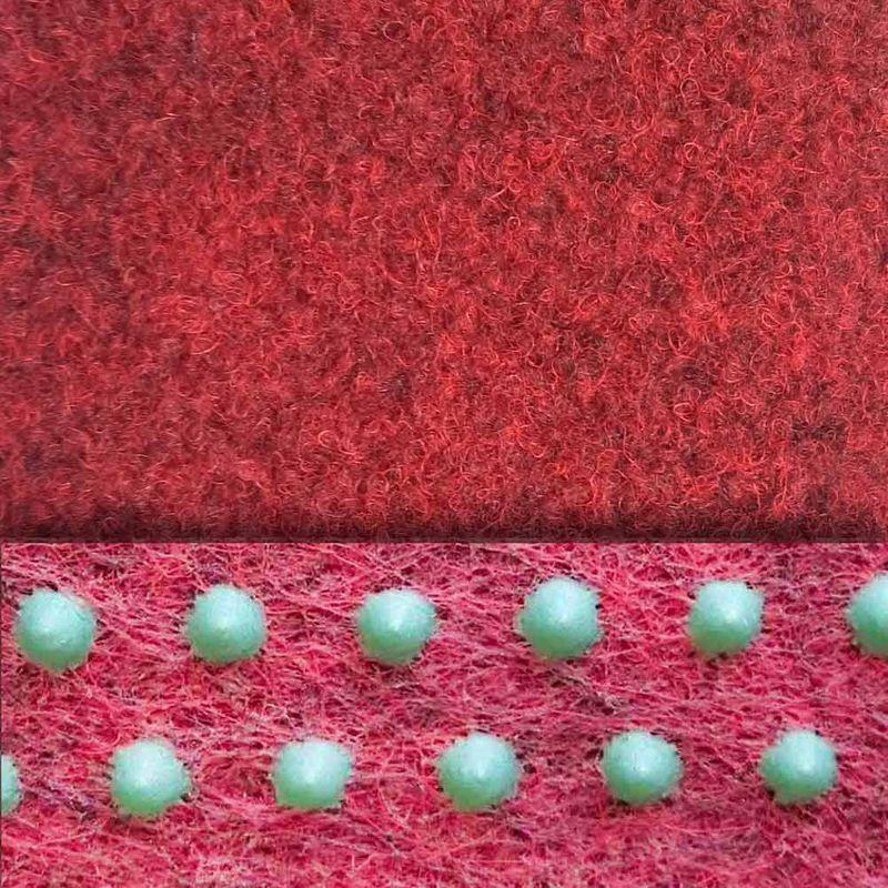 livingfloor® Kunstrasen Vliesrasen mit Noppen Rot in 1,50 m Breite, Länge variabel Meterware Bild 2