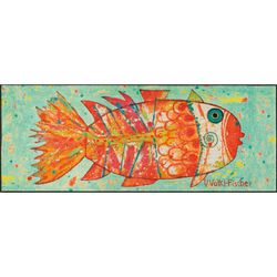 Fussmatte wash+dry Design Funky Fish 75x190 cm