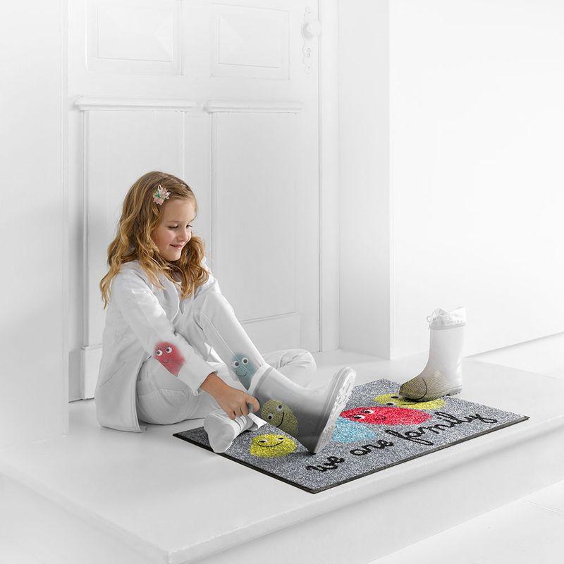 Fussmatte wash and dry Design Happy Family Designbeispiel