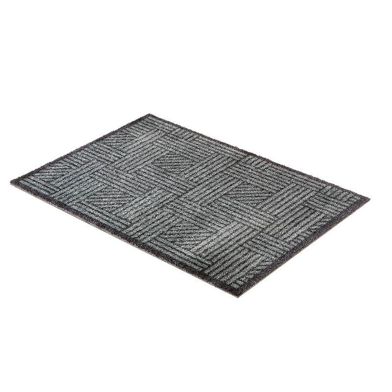 Fussmatte Schöner Wohnen Manhattan Streifengitter grau-anthrazit 040 Perspektive