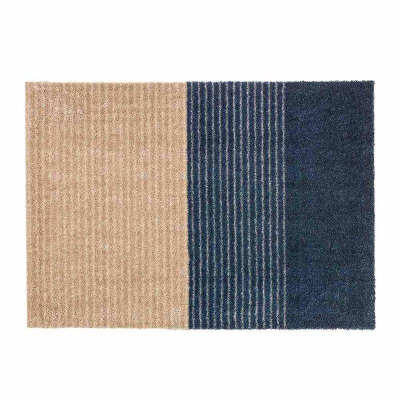 Schöner Wohnen Fussmatte Manhattan Streifen dunkelblau 022 | 50x70 cm